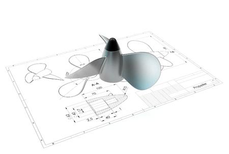 3d illustration of propeller