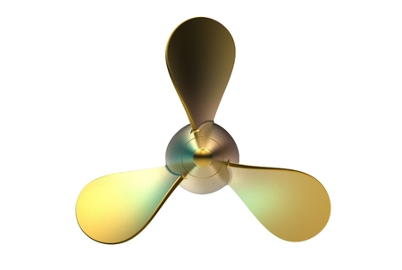3d illustration of propeller isolated on white