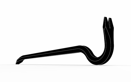 3d illustration of crowbar isolated on white