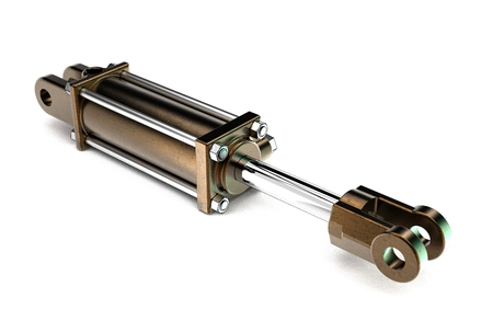 3d illustration of hydraulic cylinder isolated on white background Фото со стока - 126506589