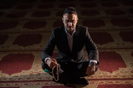Humble Turkish Muslim praying