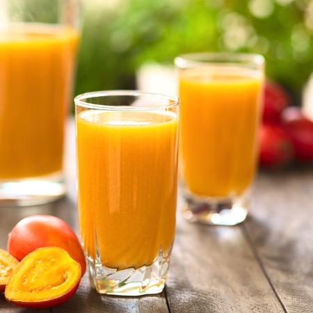 Fresh juice out of tamarillo fruits  photo
