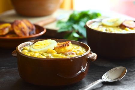 traditionally: Ecuadorian soup called Fanesca, which is traditionally eaten at Easter