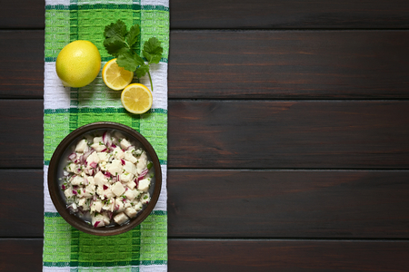 Chilean Ceviche made of Southern Ray