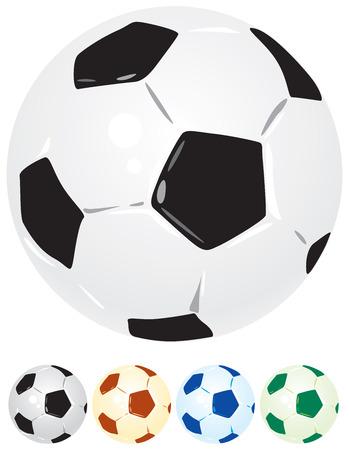uefa: Fu�ball-Kugeln in verschiedenen Farben. Vector illustration.
