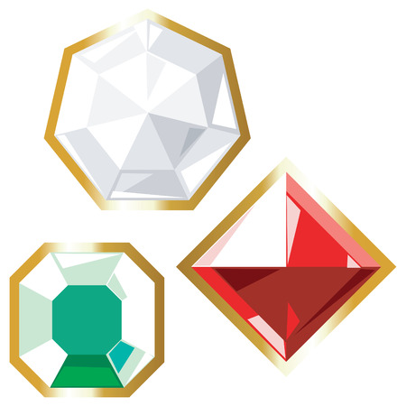Jewels icons. Vector illustration.  Vector