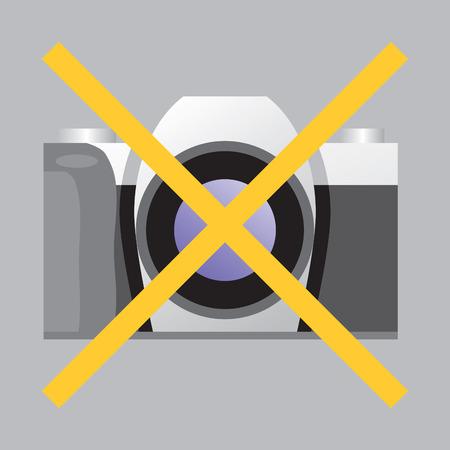 Prohibiting sign No Photo. Vector illustration.  Vector