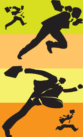 Businessmen in race. Vector illustration. Vector