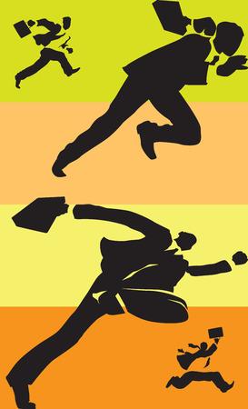 unrecognizable: Businessmen in race. Vector illustration.