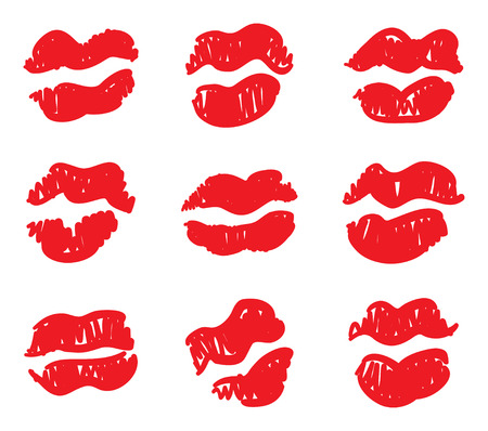Print of lips. Seamless texture. Vector illustration. Stock Vector - 4174394