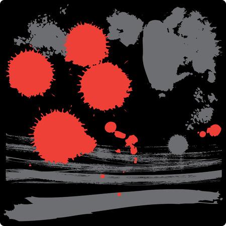 separate: Grunge drops: set of vector ink splatters. Separate elements. Editable vector Illustration.