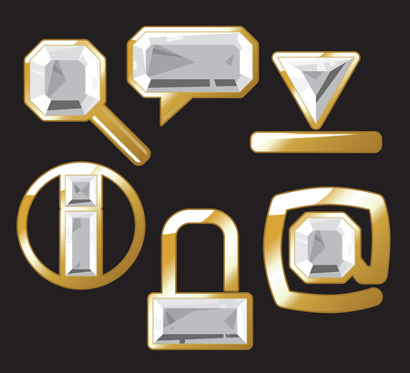 Diamond internet and website icons. Vector illustration. Vector
