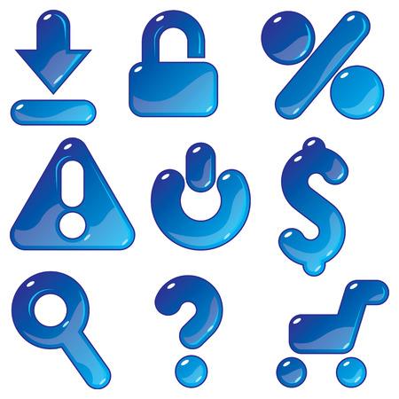 question mark: Symbole f�r E-Commerce und Shopping. Vector illustration.