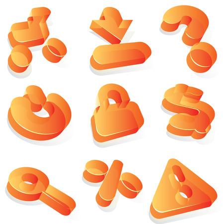 question mark: Symbole f�r e-Commerce und shopping. Vektor-Illustration.