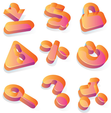 question mark: Symbole f�r e-Commerce und shopping. Vektor-Illustration.  Illustration