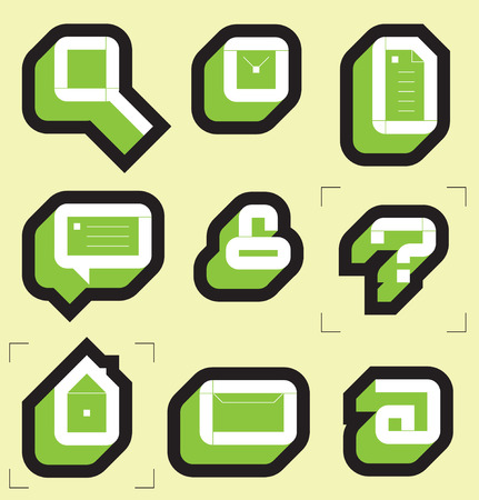 Grid icons for web. Vector illustration. Stock Vector - 4874543