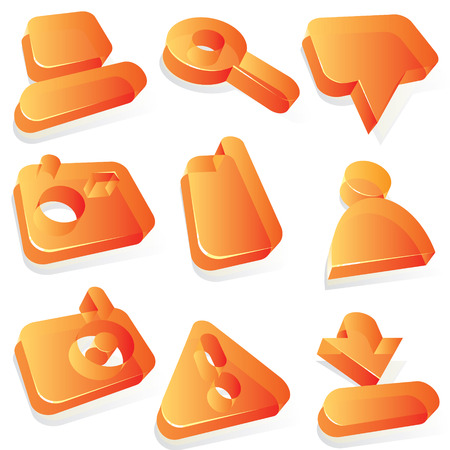 Icons for media content websites. Vector illustration. Stock Vector - 4874545