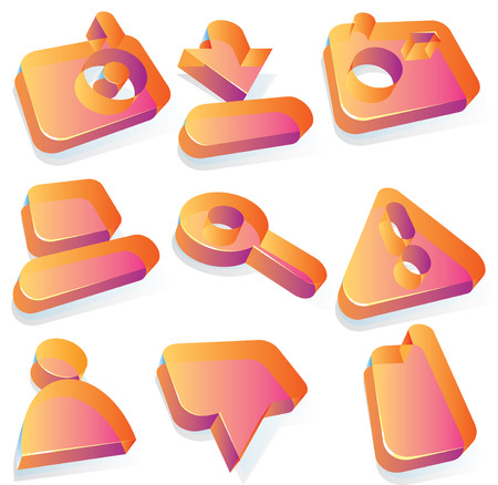 Icons for media content websites. Vector illustration. Vector