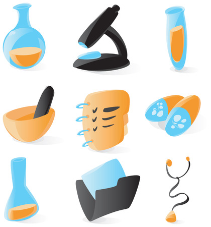 Smooth medical and chemical icons