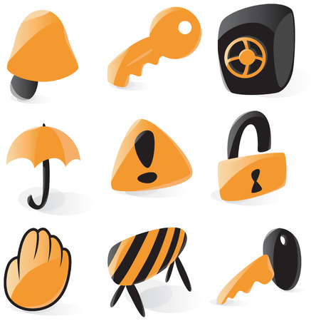 Smooth security icons Stock Vector - 4915869