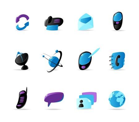 Bright communication icons. Vector illustration Stock Vector - 5285289