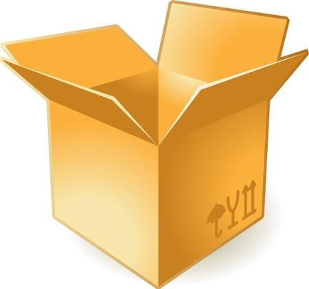 box icon: Icon of open box. Vector illustration. Illustration