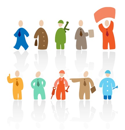business roles: Cartoon people: professions. Vector illustration