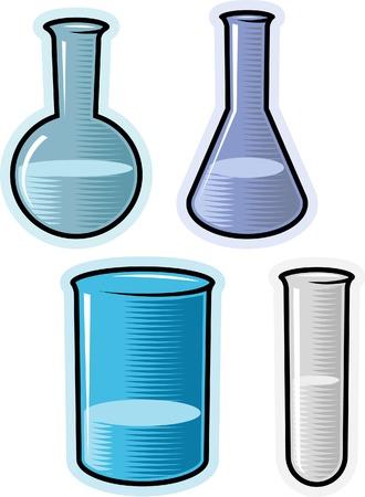 boticário: Glass for chemical lab. Vector illustration. Ilustra��o