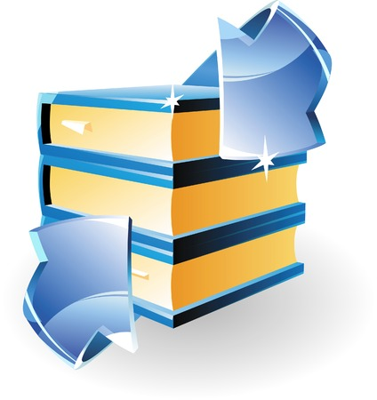 Arrow et de livres. Vector illustration. Vecteurs