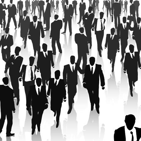 unrecognizable person: Big business meeting. Vector illustration.