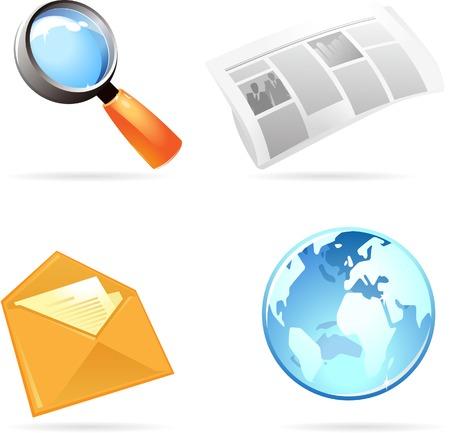 Information icon set. Vector illustration. Stock Vector - 5464091