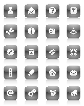 Miscellaneous buttons. Icons for websites and interface elements. Vector illustration. Stock Vector - 5464251