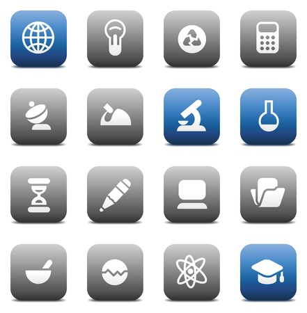 oscilloscope: Buttons for science. Icons for websites and interface elements. Vector illustration.