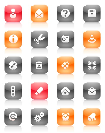 miscellaneous: Miscellaneous buttons. Icons for websites and interface elements. Vector illustration. Illustration
