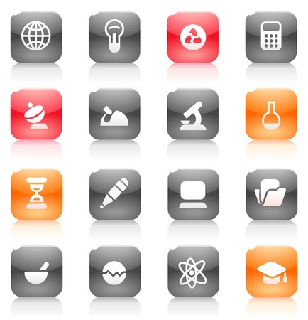 Buttons for science. Icons for websites and interface elements. Vector illustration. Stock Vector - 5464244