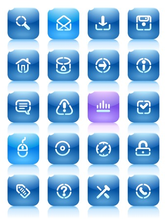 Buttons for internet. Icons for websites and interface elements. Vector illustration. Stock Vector - 5464275