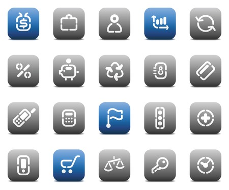 Buttons for business. Icons for websites and interface elements. Vector illustration. Stock Vector - 5464286