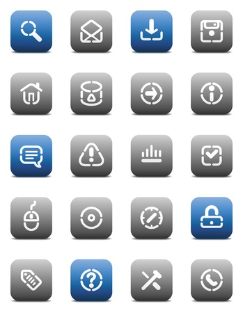 Buttons for internet. Icons for websites and interface elements. Vector illustration. Stock Vector - 5464287