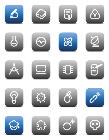 Buttons for science. Icons for websites and interface elements. Vector illustration. Vector