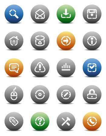 Buttons for internet. Icons for websites and interface elements. Vector illustration. Stock Vector - 5464272