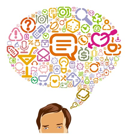 Icons for web, computer, business, shopping, science, media, leisure, gambling and danger. Vector illustration. Stock Vector - 5658062