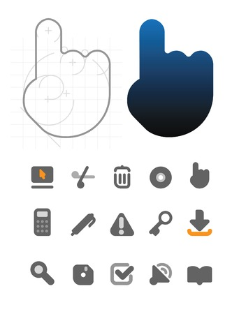 Designer's icons for website and computer interface. Vector illustration. Stock Vector - 5687225