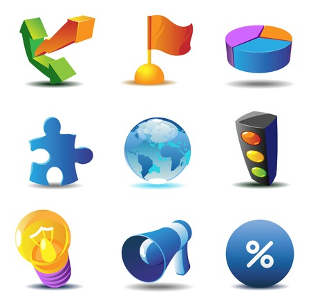 Business concept icons. Stock Vector - 5707918