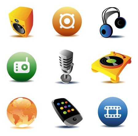 acustica: Icone per la musica e intrattenimento.