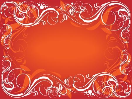Red ornate frame.  Stock Vector - 5707864