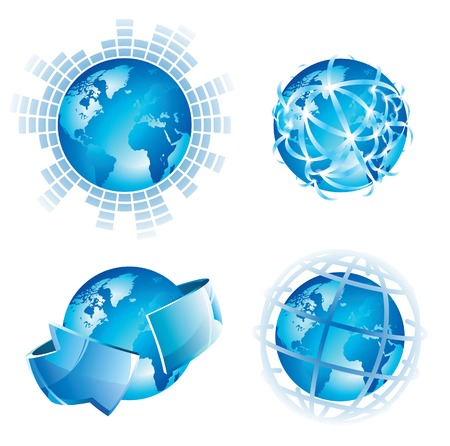 Global concepts for business, internet and networks. Vector illustration. Vector