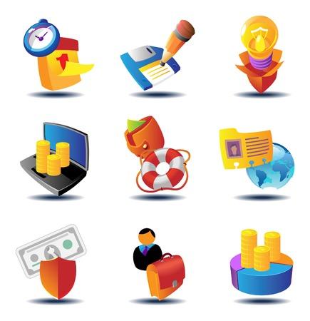 metafoor: Business metafoor pictogrammen. illustratie concept.