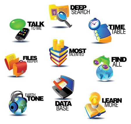 Business communications icons. Heading concepts for article or website. Vector illustration. Stock Vector - 5961200
