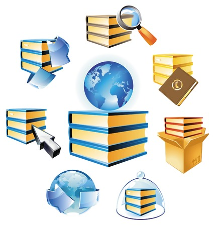 Concepts for books and knowledge. Vector illustration. Stock Vector - 5961195