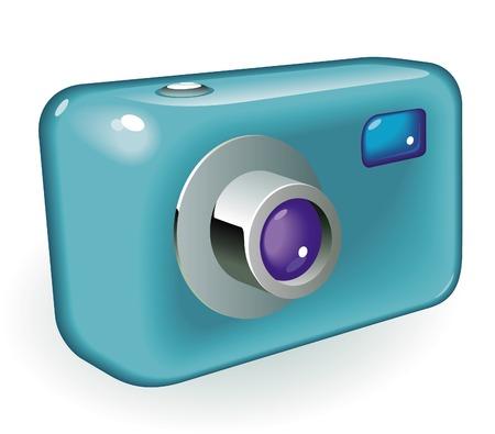 Retro-styled photo camera. Vector illustration. Stock Vector - 5961178